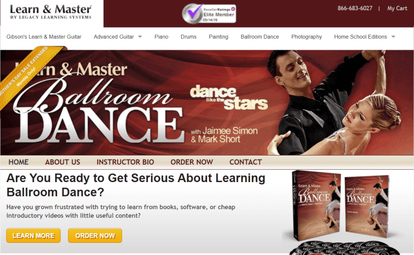 Learn & Master Courses Coupon Codes- Ballroom Dance Classes