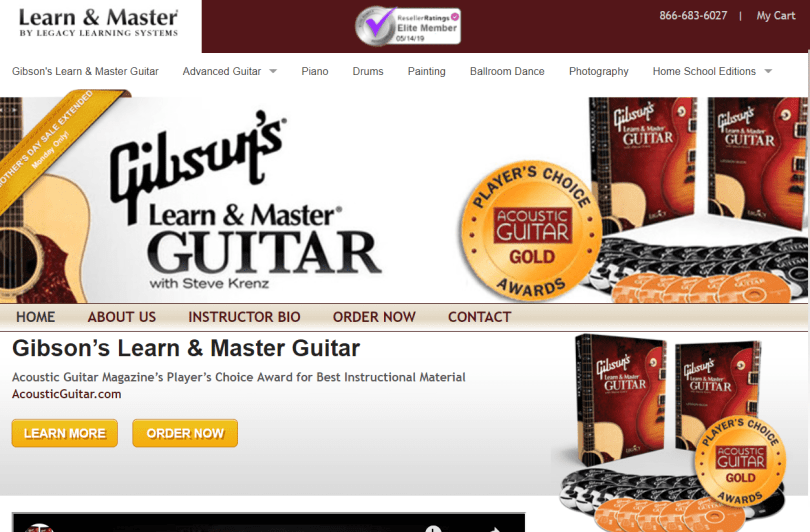 Learn & Master Courses Coupon Codes- Gibsons Guitar Class