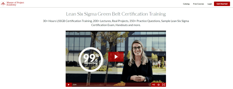 Master of Project Academy Coupon Codes- Lean Six Sigma Green Belt Certification Training