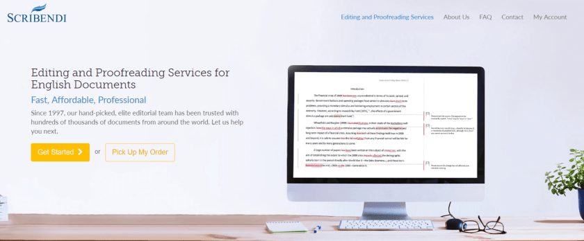 Scribendi Review- Proofreading Services Editing Services