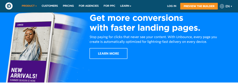 Unbounce Coupon Codes- Landing Page Featutres