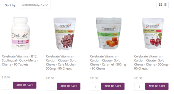 Celebrate Vitamins – Nashua Nutrition Coupons