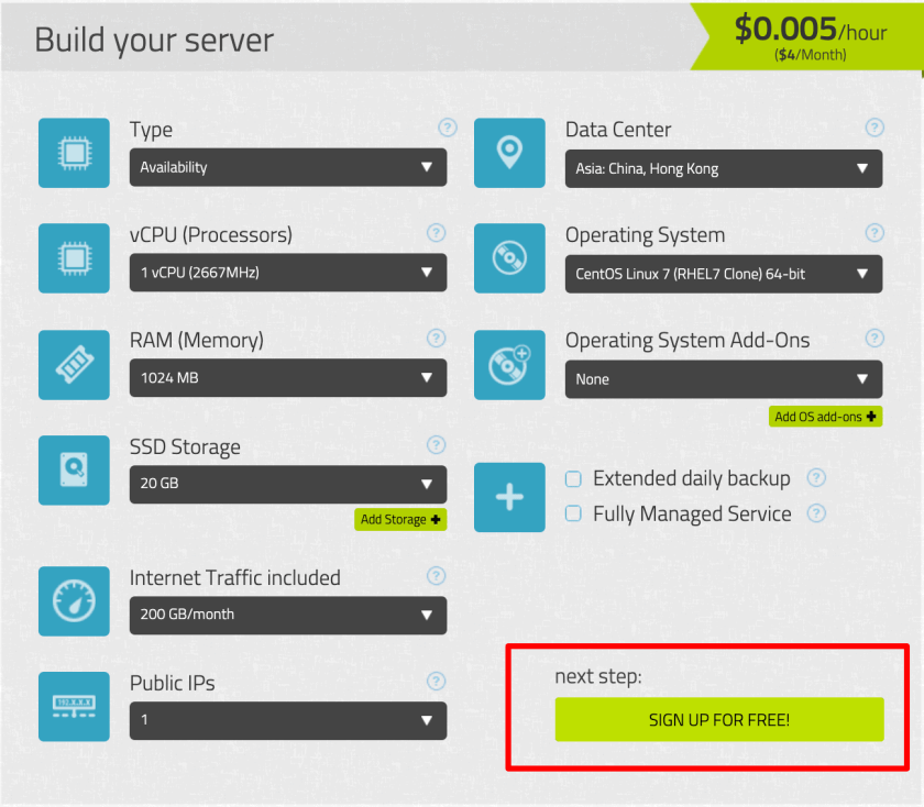 Kamatera - Cloud Servers Pricing