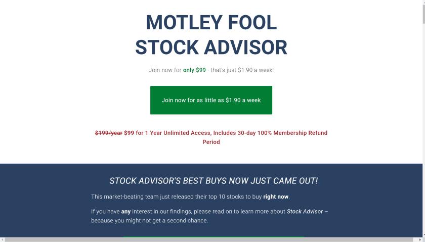 Motley fool pricing - Motley Fool stock advisor