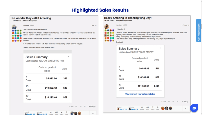 Amazing Selling Machine courses result