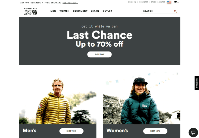 Outdoor Clothing Outlet Special Priced Jackets - Mountain Hardwear