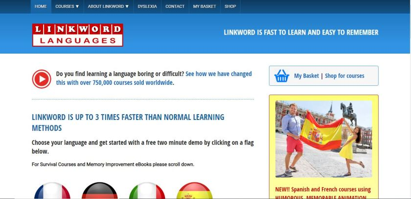 Linkword Languages Review Homepage