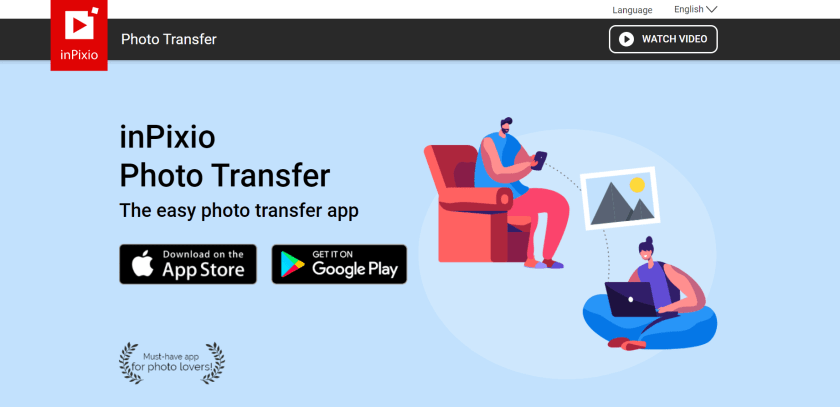 inpixio photo transfer app