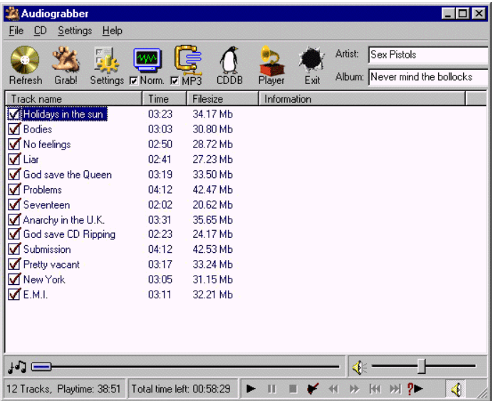 AudioGrabber Screenshot