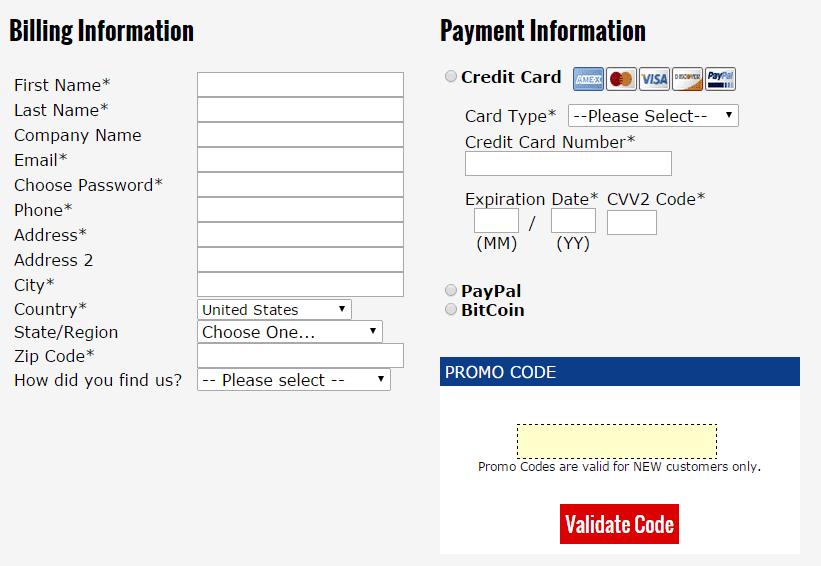 Certified Hosting Coupon-billing