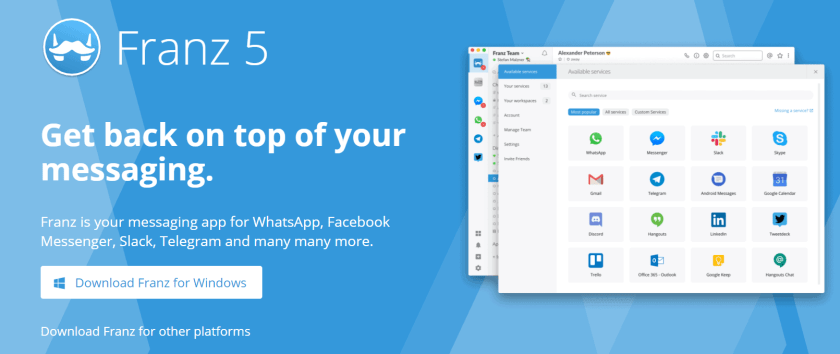 Facebook Messenger Apps Franz