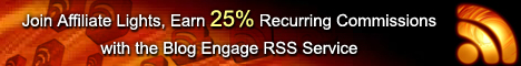 blogengage, rss, affiliatelights, recurring commissions