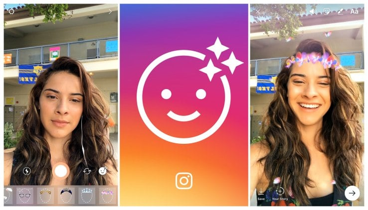 Instagram gets updated with Augmented Reality Filters