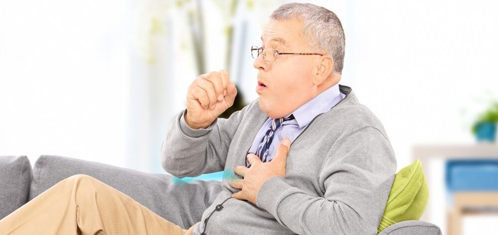 man with bronchiectasis