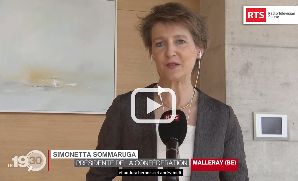 "TV Report ""Mrs Simonetta Sommaruga"" 06.04.2020"