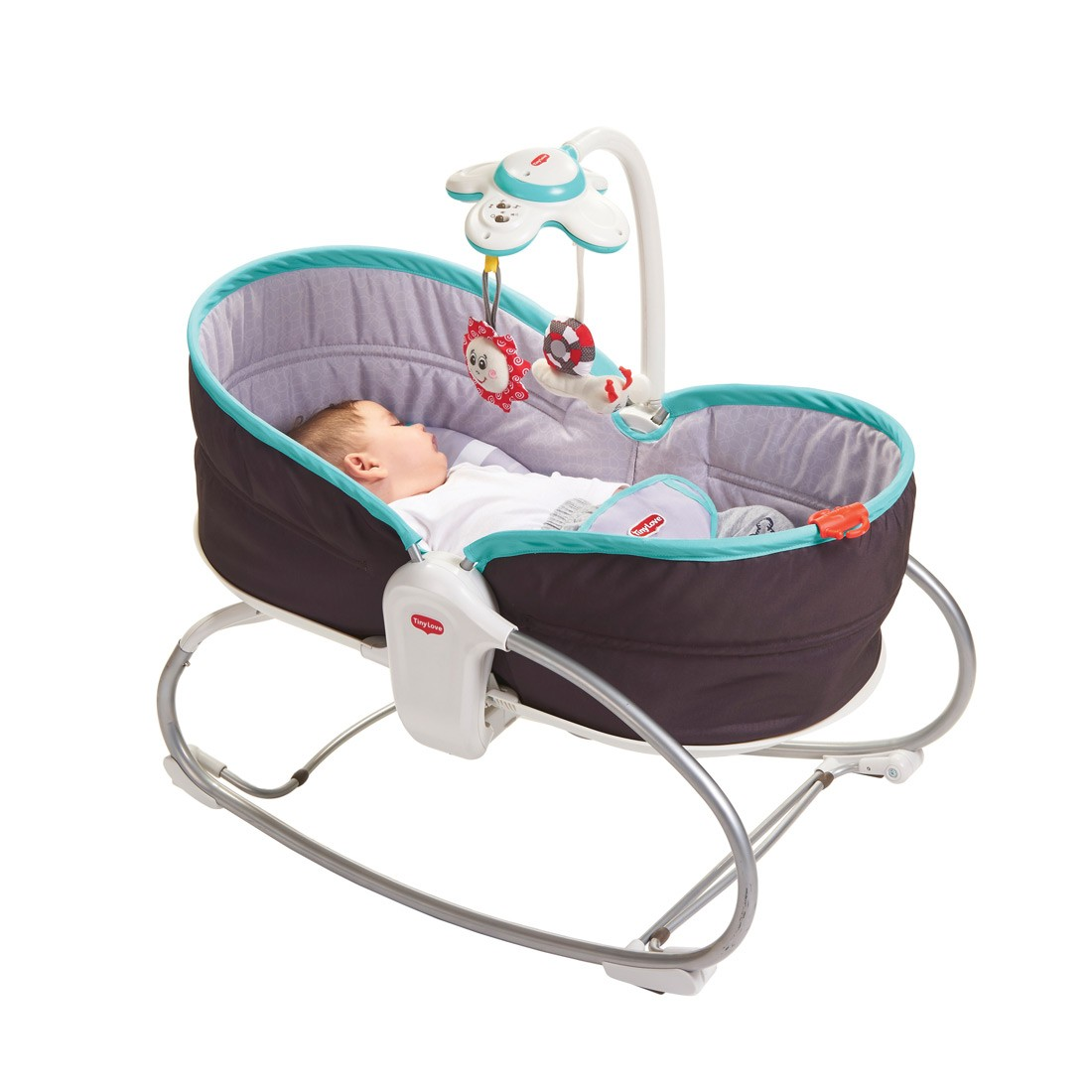 baby chair that vibrates loose covers ready made ireland tiny love 3 in 1 rocking vibrating bouncy moses basket