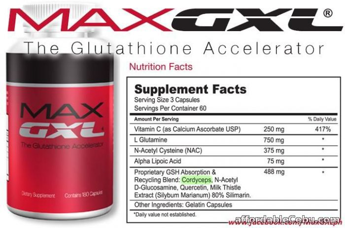 FOR SALE MAX GXL GLUTATHIONE ACCELERATOR SUPPLEMENT For