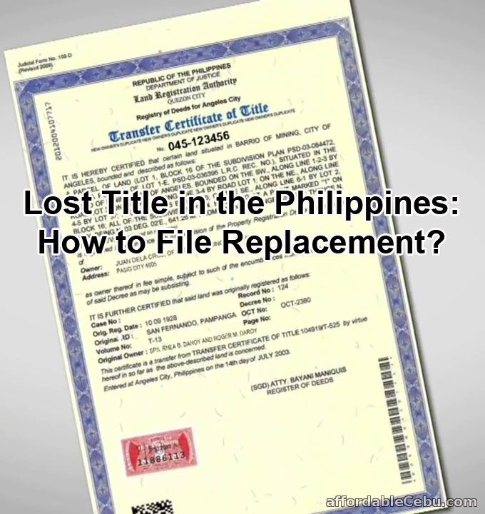 How to File Replacement for Lost Land Title in the