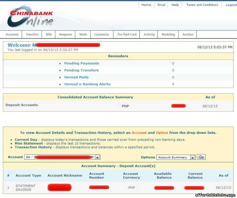 How To Inquire Account Balance In China Bank Online Banking 22429