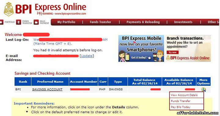 How To View Your Statement Of Account In Bpi Online Banking 29591