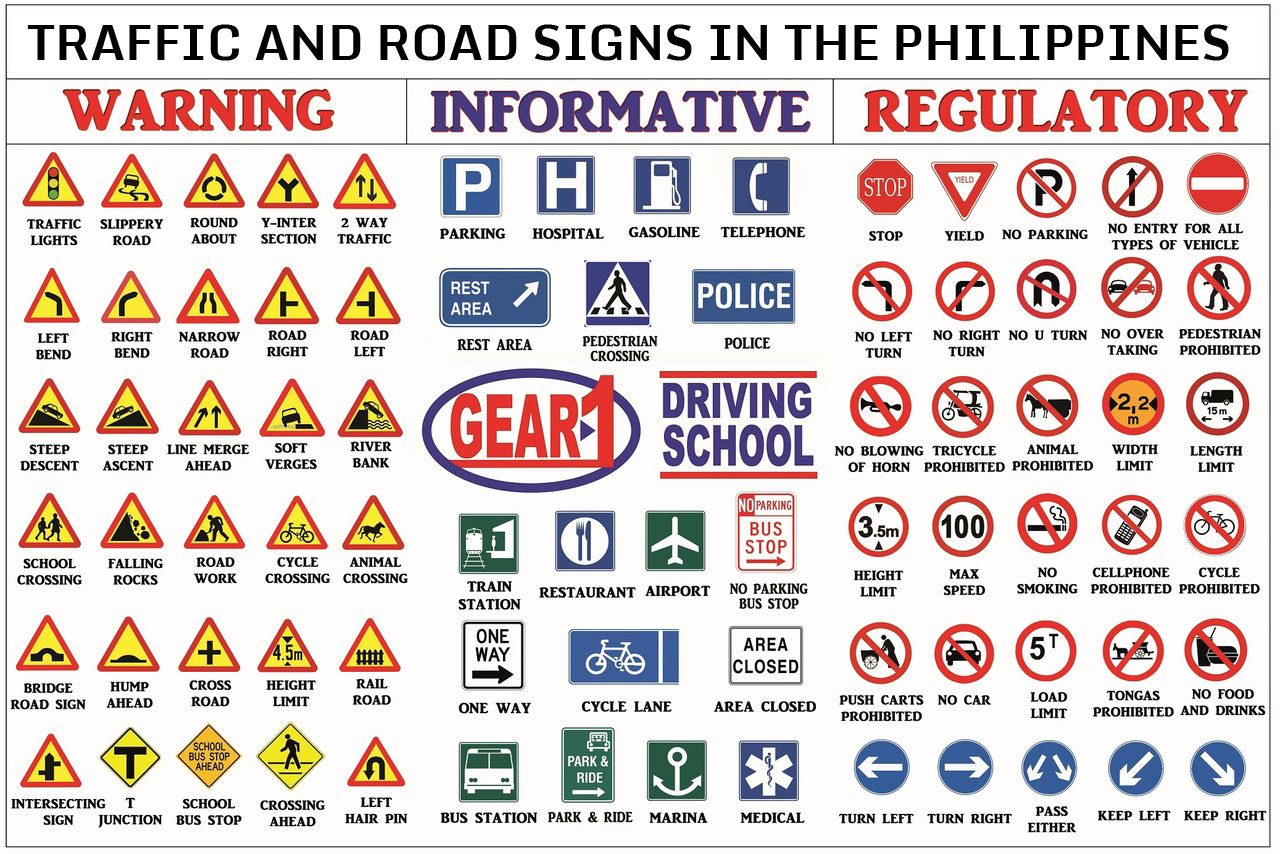List Of Traffic Signs In The Philippines