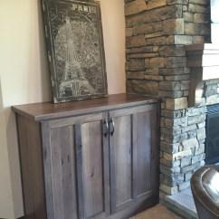 Alder Cabinets Kitchen Step Stool Chair Affordable Custom - Showroom