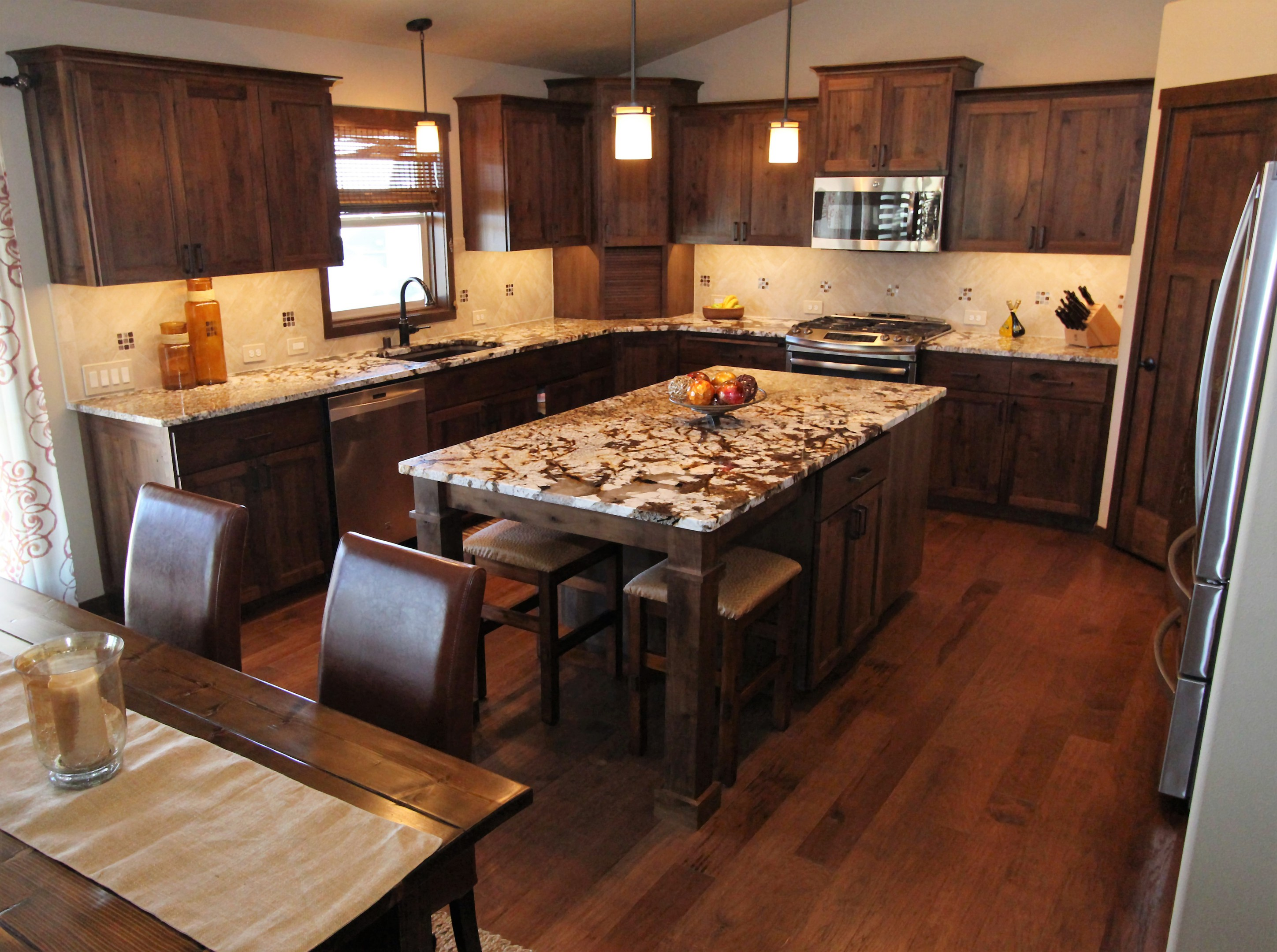 hickory shaker style kitchen cabinets counter covers affordable custom showroom
