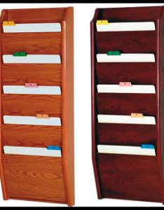 Main     chart holder also pocket wood file wall rack holds up to wide rh affordabledisplayproducts