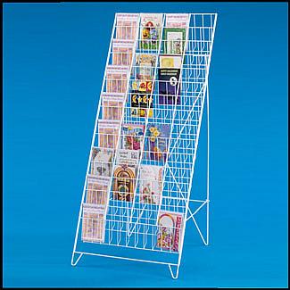 60 pocket greeting card rack stand
