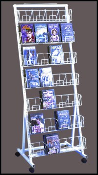 28 Pocket DVD Rack Stands - Holds 168 DVDs - Small Spaces