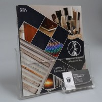 Acrylic Magazine Holder with Attached Business Card Holder