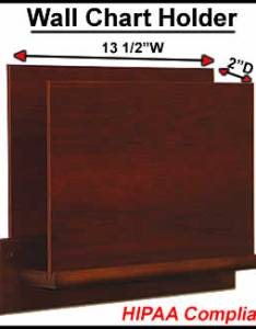 Main     chart holder  open end also hippa compliant wooden wall holds files rh affordabledisplayproducts