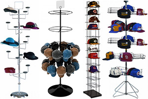 floor hat baseball cap display racks