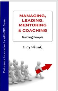 Book cover - Managing, Leading, Mentoring & Coaching