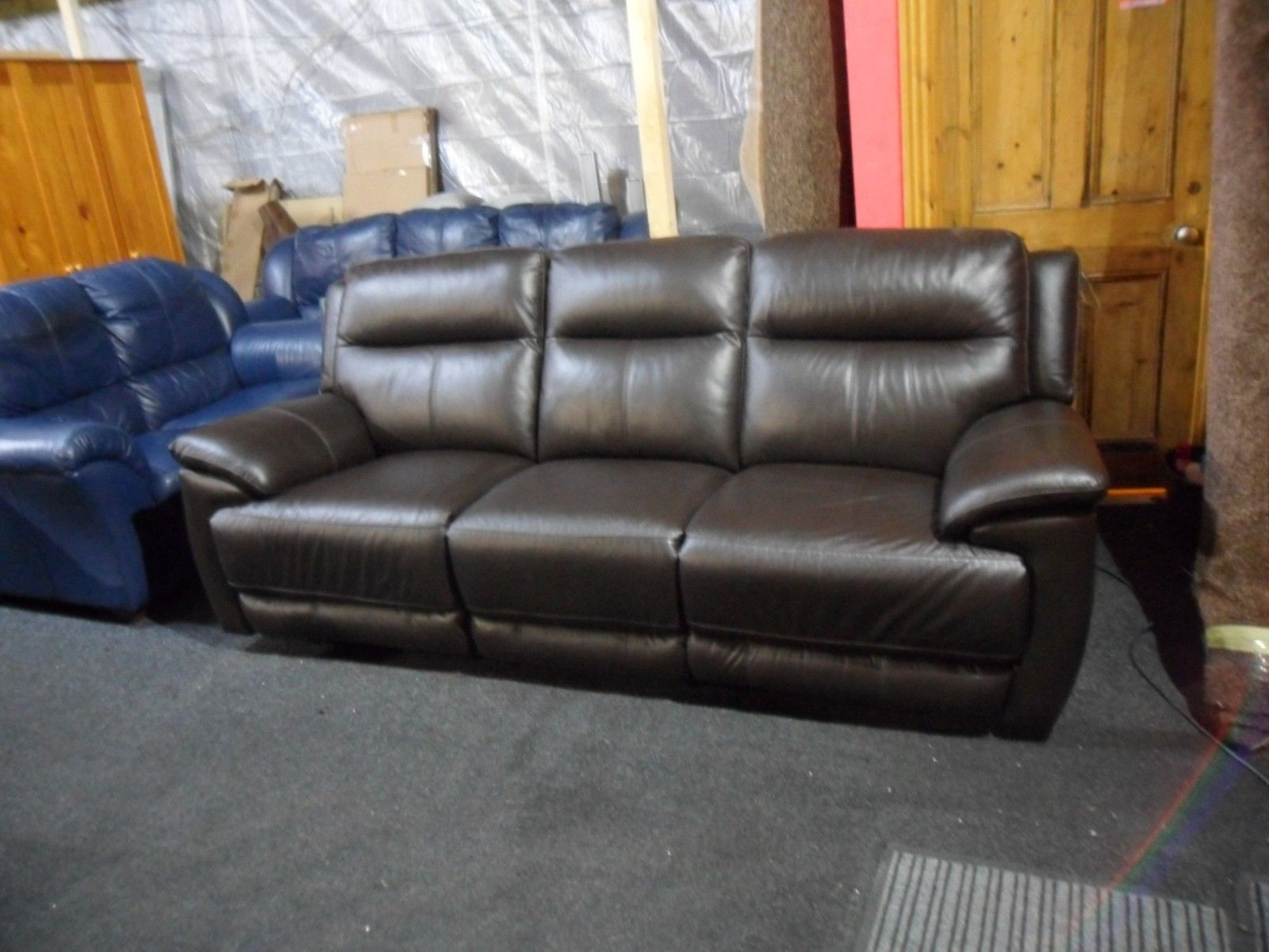 brown leather recliner sofa uk princess flip power 3 seater  affordable furnishings