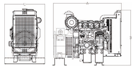 AGPBB10kW Bare Bones Perkins Diesel Generator with Mecc