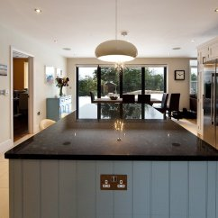 Granite Top Kitchen Island Breakfast Bar Table With 8 Chairs Steel Grey Worktops In Cuckfield, West Sussex