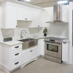 Affordable Kitchens And Baths Oak Kitchen Cabinet White Shaker Display