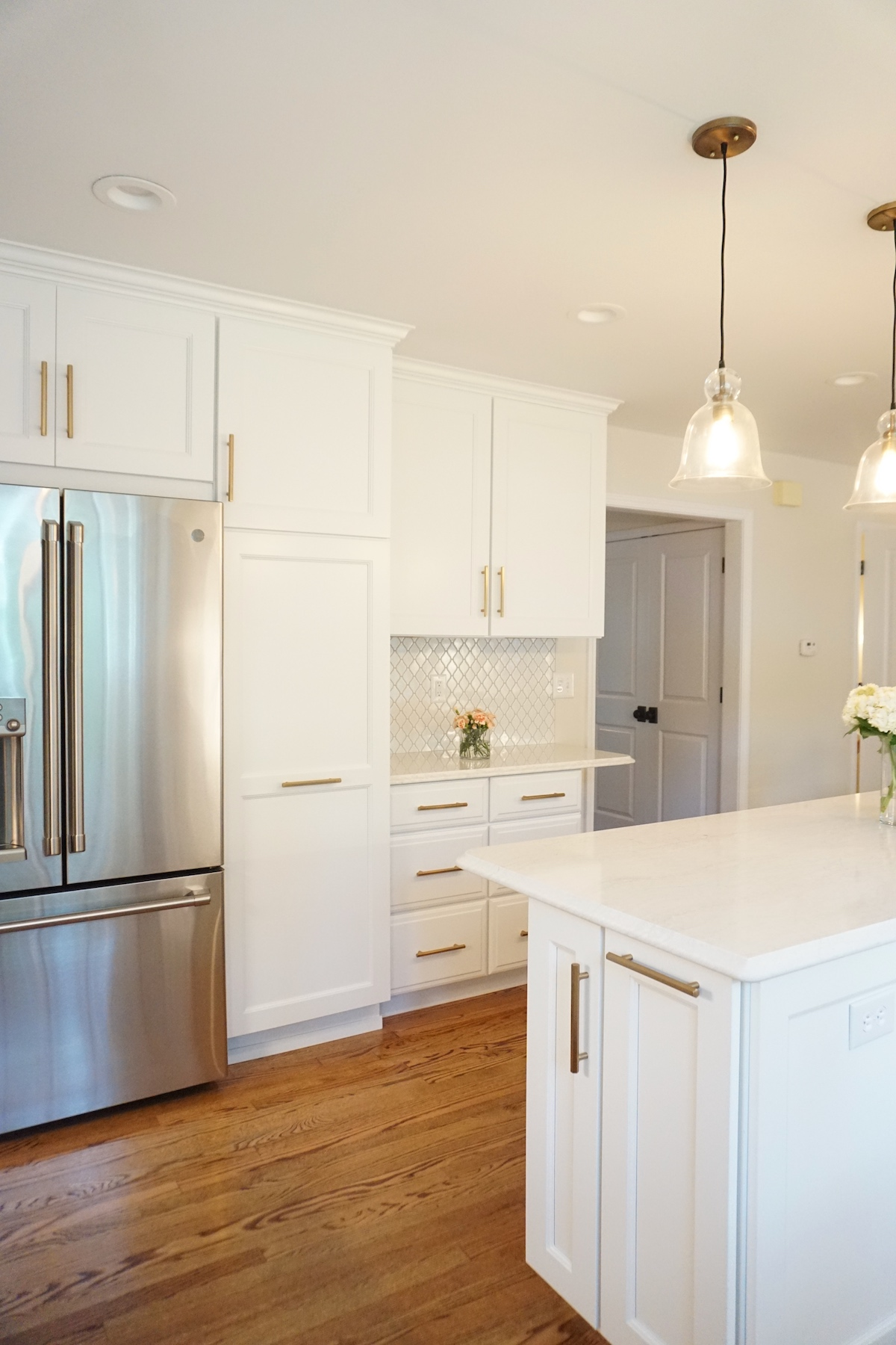 affordable kitchens and baths nantucket polar white kitchen cabinets bright transformation