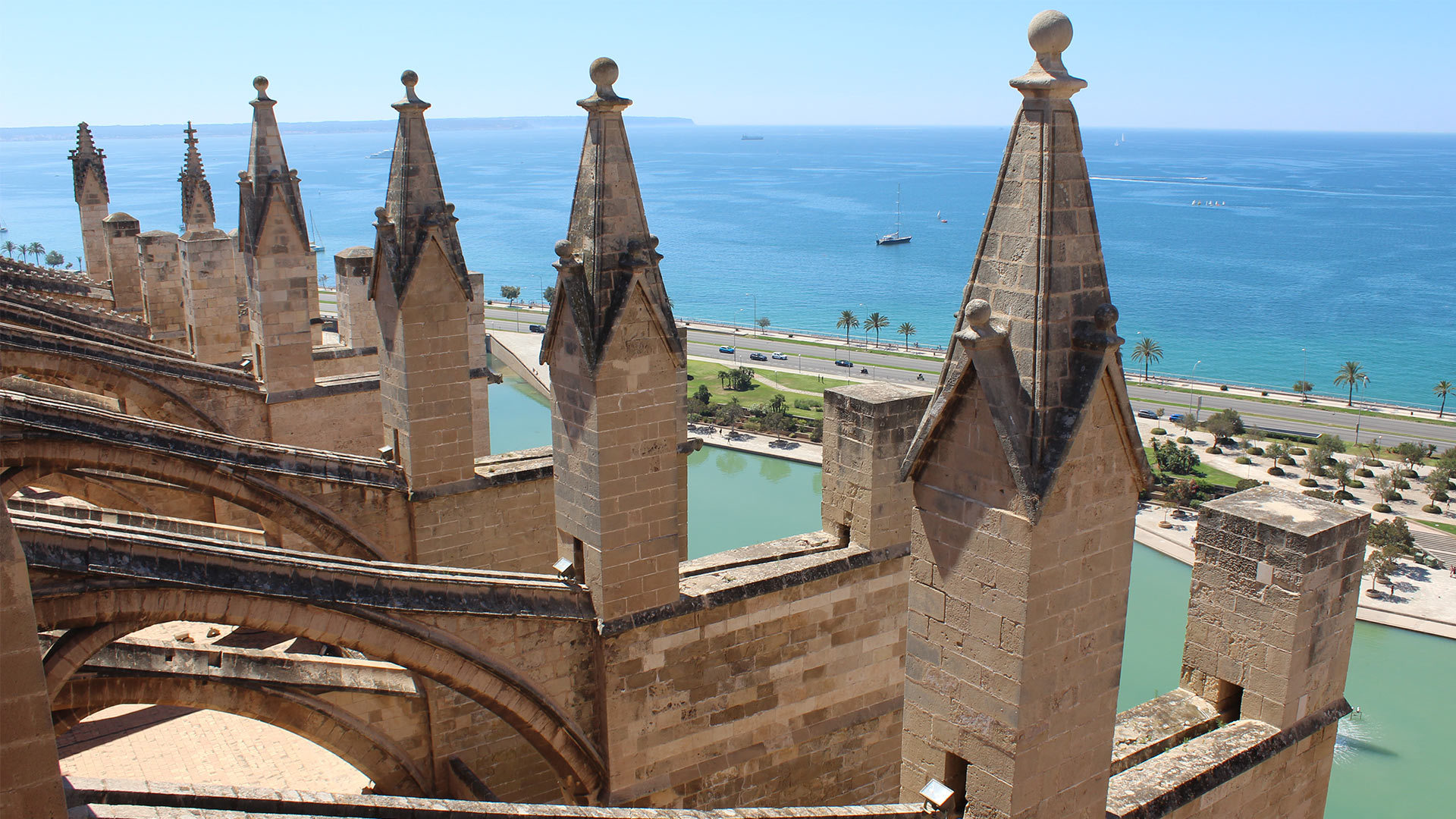roof terraces of palma cathedral