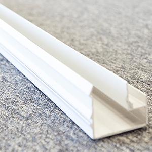 10' - 20' White Aluminum bottom rails and side rails