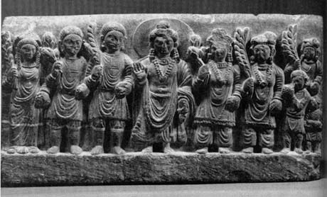 Maitreya and worshippers