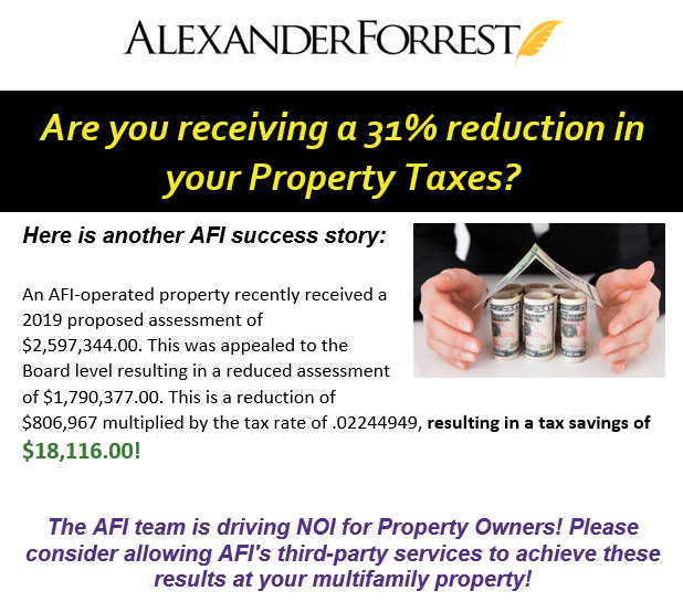 AFI Reduces Property Taxes by 31%!