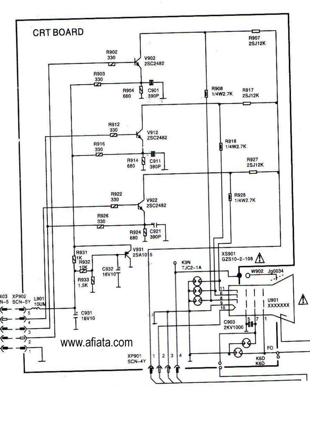 medium resolution of electronic circuit diagram tv crt board rgb colour using tr 2sc2482crt wiring diagram wiring library electronic