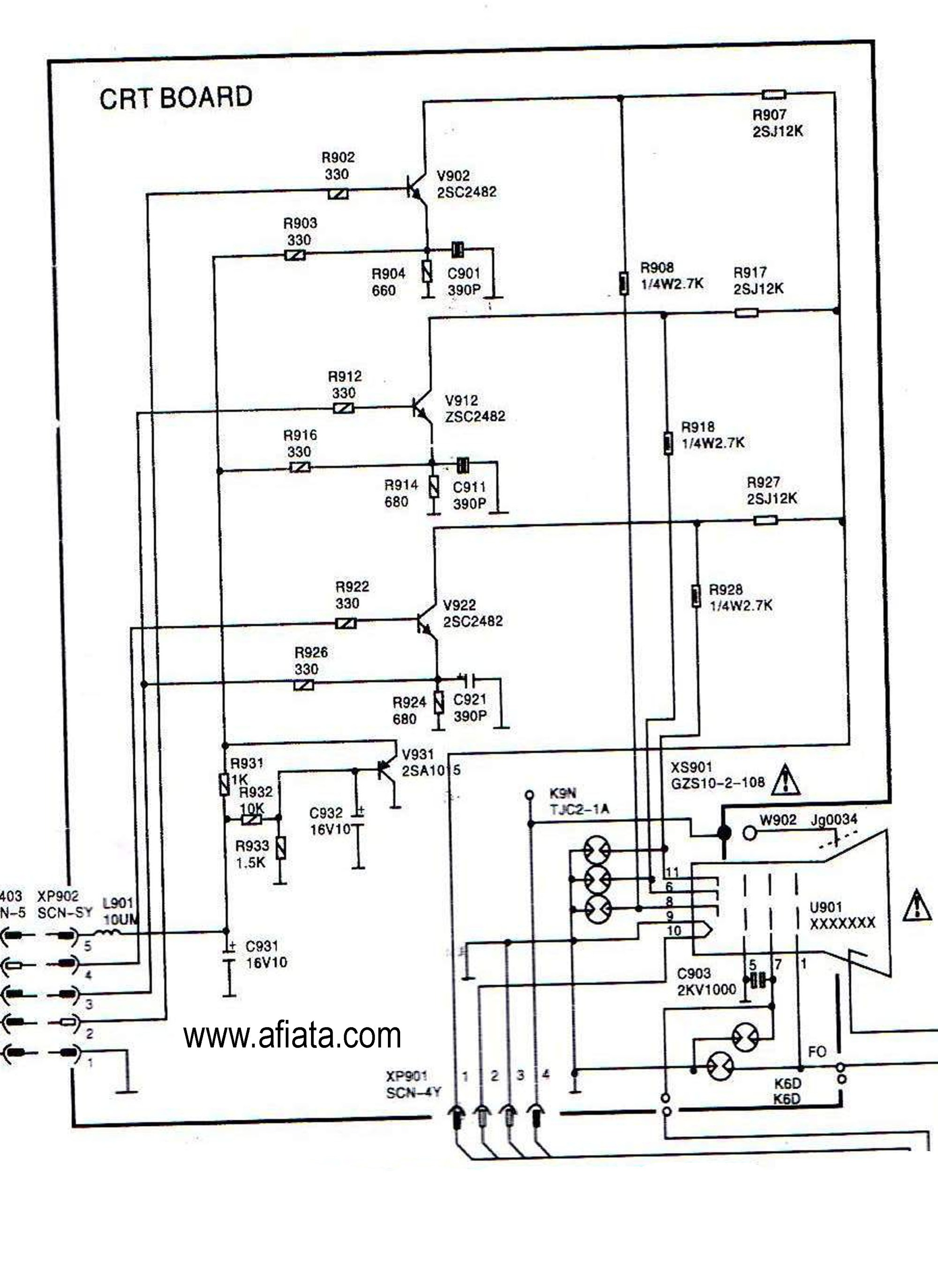 hight resolution of electronic circuit diagram tv crt board rgb colour using tr 2sc2482crt wiring diagram wiring library electronic