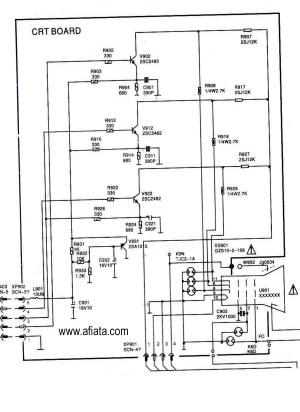 Electronic Circuit Diagram TV CRT board RGB Colour Using TR 2SC2482   Electronic Circuit Diagram