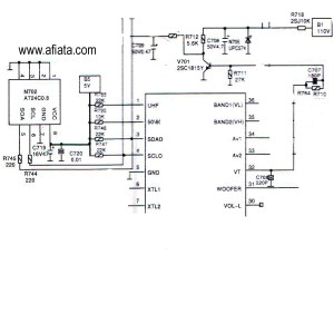 Electronic Circuit Diagram TV Memory program Using AT24C0, 24C02N | Electronic Circuit Diagram