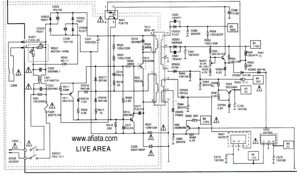 Reparaciones: Diagrama Phillips chasis 13Y600-7560 Modelo