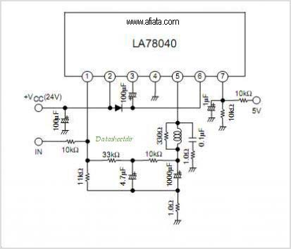 Electronic Circuit Diagram TV vertical Using LA7841