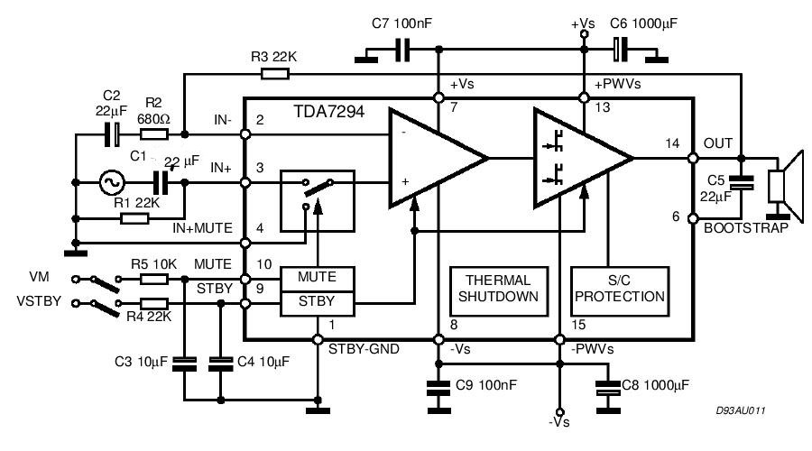 100 Watt Spotlight Wiring Diagram Tda7294 Power Audio Circuit Diagram Electronic Circuit